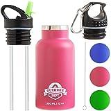 OUTDOOR DEPT Trinkflasche für Kinder Isoliert Edelstahl 350 ML BPA Frei - Thermo Kinder...