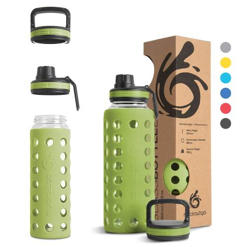 hydro2go Sportflasche Glas