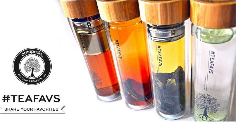 Trinkflasche Glas amapodo