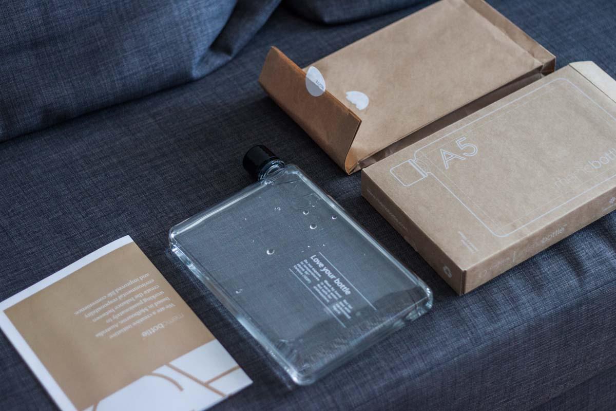 Memobottle A5 Verpackung