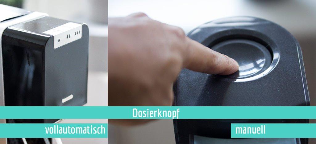 Unterschiedliche Dosierknopf Varianten SodaStream