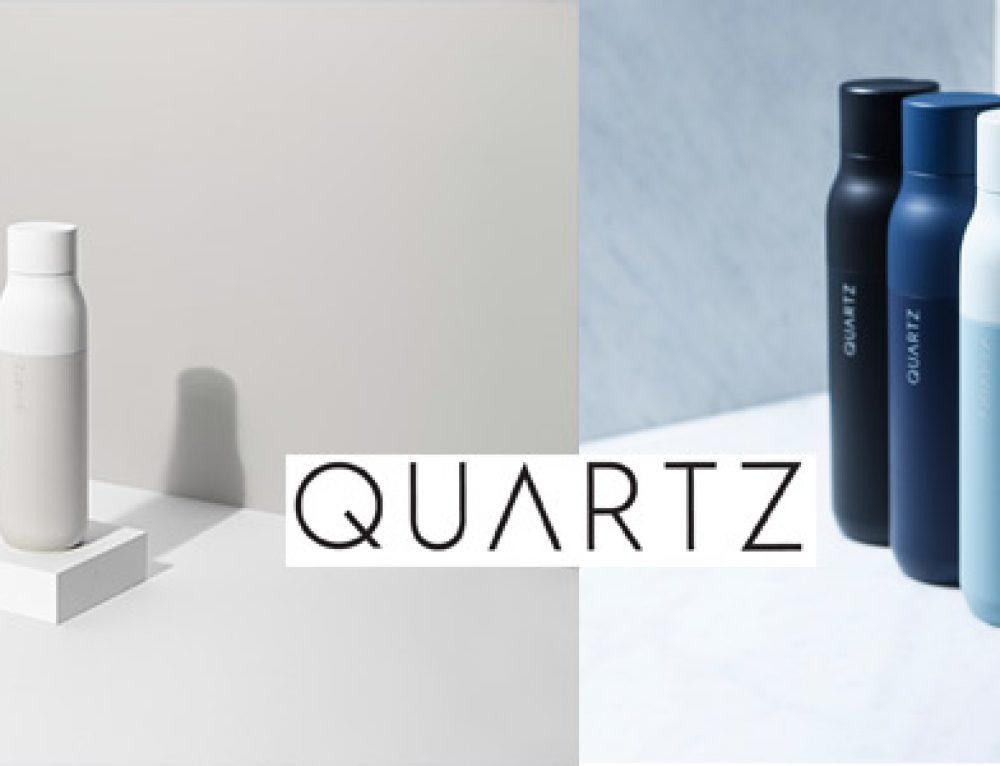 QUARTZ Bottle – Keime Adieu: Die erste selbstreinigende Trinkflasche durch UV-Licht