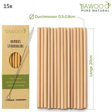 Bawood-Bambus-Trinkhalm