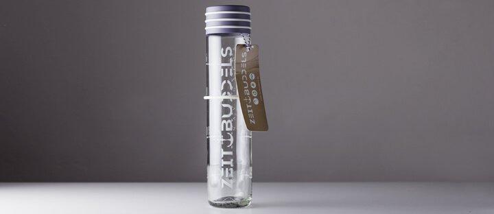 ZeitBuddel Glasflasche Lieferumfang