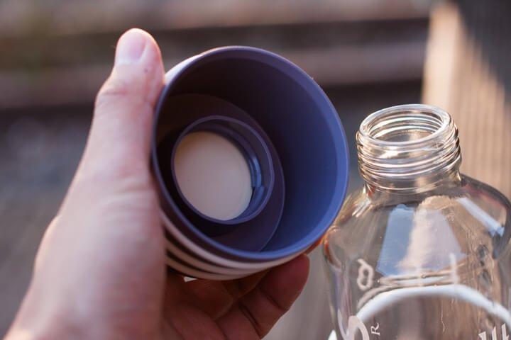 ZeitBuddel Trinköffnung und Versschluss